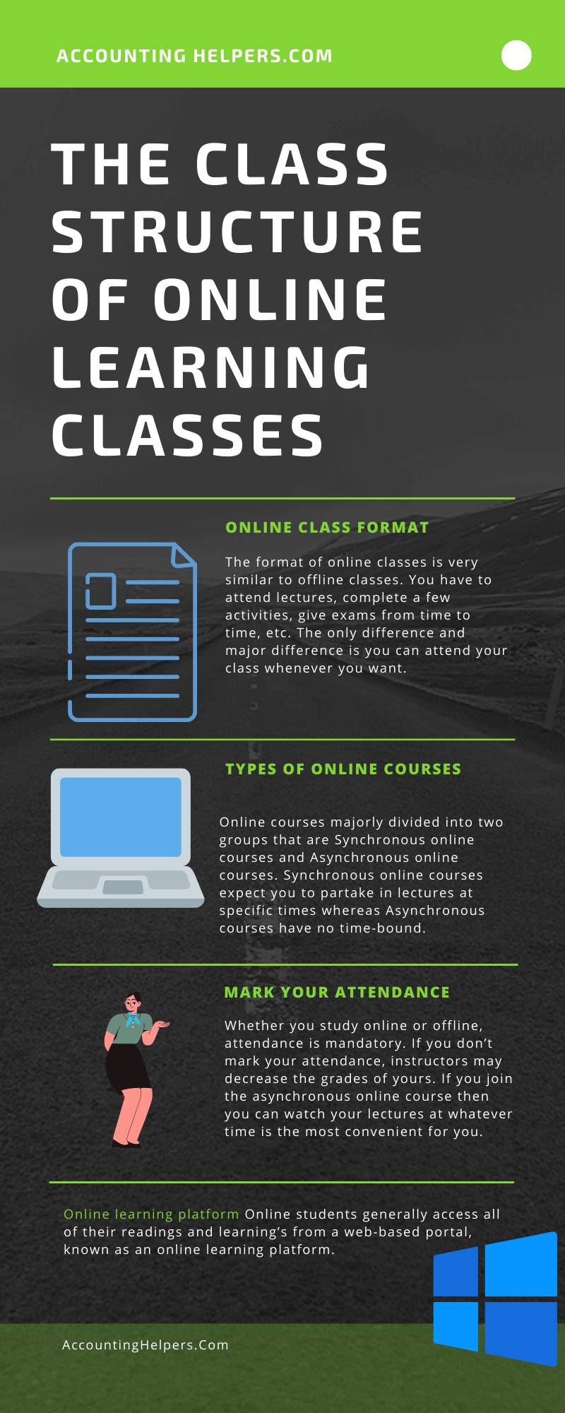 Get to know about the structure of online classes